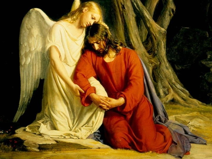 The Angel Comforts Christ